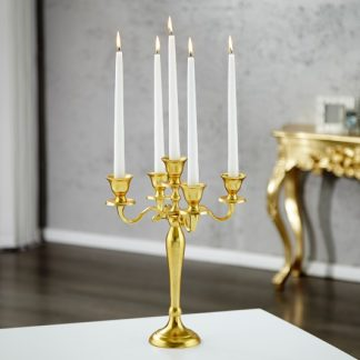 Svietnik 5-ramenný zlatá 40cm