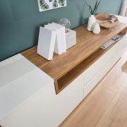 TV Board Empire 180cm biela Sonoma dub