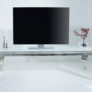 TV Board Modern Barock 160cm biela strieborná