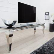 TV Board Modern Barock 160cm čierna strieborná