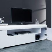 TV-stolík Cube Ambience 150cm LED biela