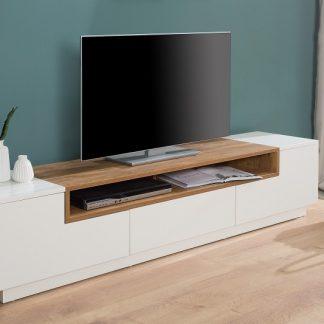 TV-stolík Empire 180cm biela Sonoma dub