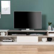 TV-stolík Empire 180cm biela betón