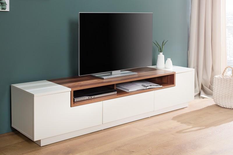 TV-stolík Empire 180cm biela vlašský orech