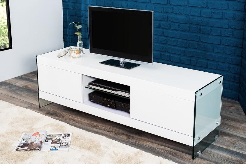 TV-stolík Floating 160cm biela