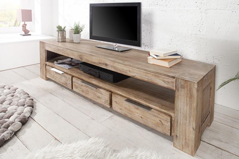 TV-stolík Giant 170cm agát Teak šedý