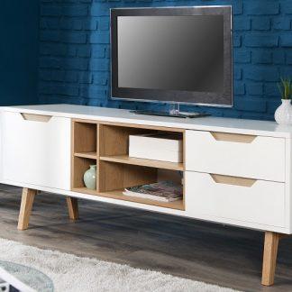 TV-stolík Nordic 150cm biela dub