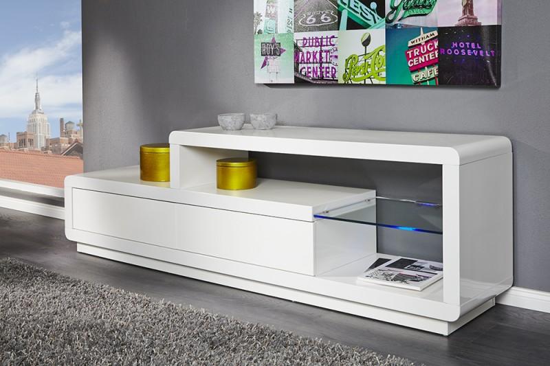 TV-stolík Phase biela / LED