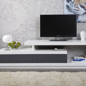 TV-stolík Spring biela anthr. 170cm