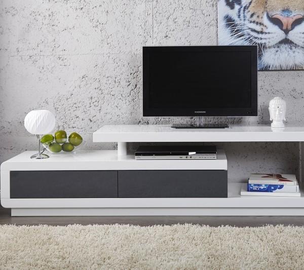 tv stol k spring biela anthr 170cm poto. Black Bedroom Furniture Sets. Home Design Ideas