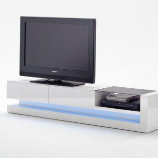 TV-stolík Twist biela 180cm inkl. LED