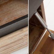 TV-stolík Wotan 170cm agát Teak šedý