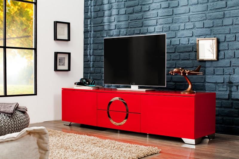TV-stolík Zen 180cm červená