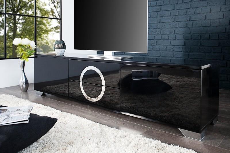 TV-stolík Zen 180cm čierna