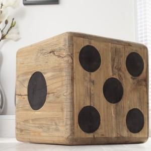 Taburet Dice 40cm teakové drevo