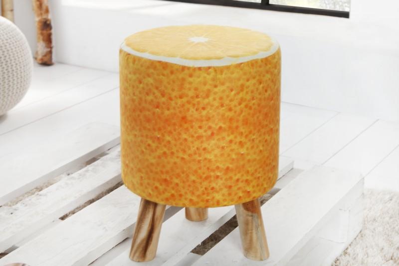 Taburet Fruits 45cm oranžová Orange