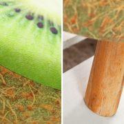 Taburet Fruits 45cm zelená Kiwi