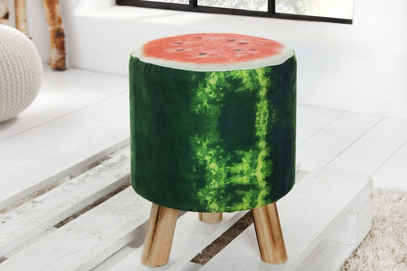 Taburet Fruits 45cm zelená Wassermelone