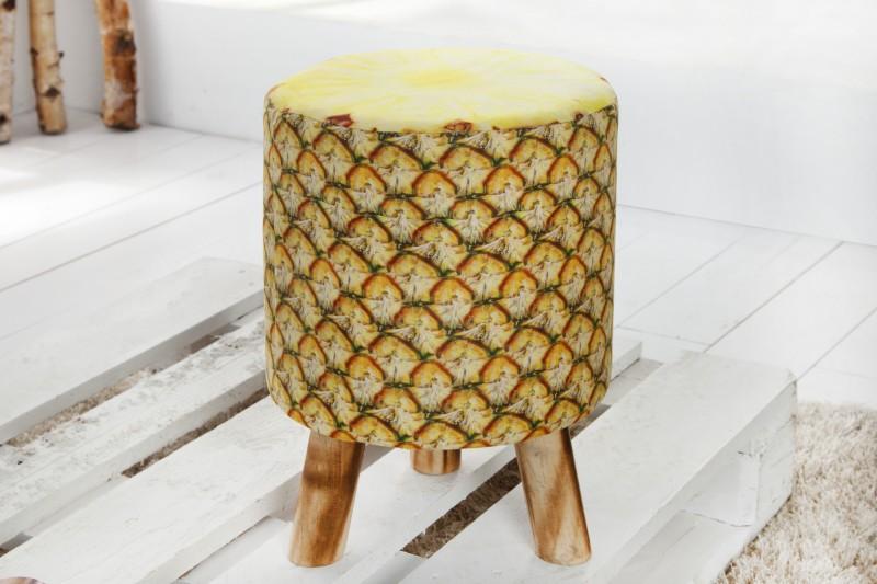 Taburet Fruits 45cm žltá Ananas