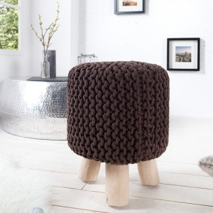 Taburet Leeds 45cm dark coffee - Strick