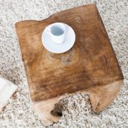 Taburet Molar II teakové drevo