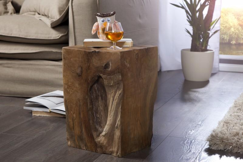 Taburet Wood - teakové drevo