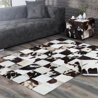 Teppich Rodeo 195cm hnedá biela kožušina