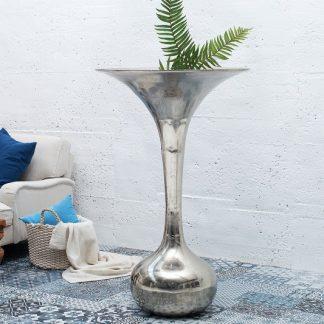 Váza Desert 120cm strieborná