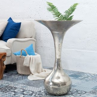 Váza Desert 90cm strieborná
