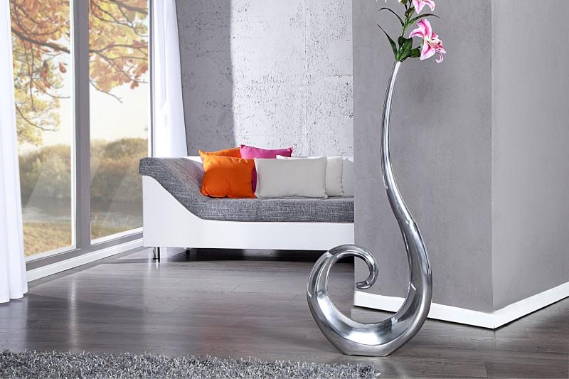 Váza Wave strieborná 106cm
