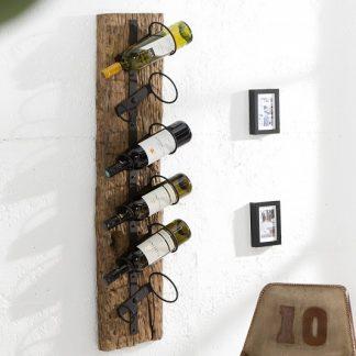 Wand-Regál na víno Barracuda 100cm teakové drevo