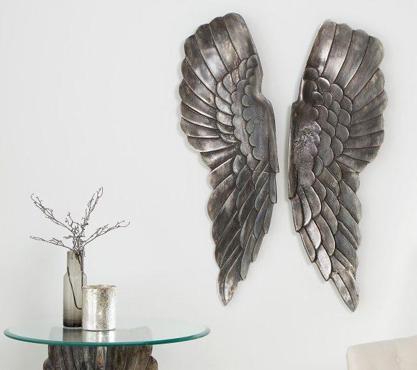 Wanddeko Fallen Angel 65cm strieborná