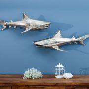 Wanddekoration Haie set 2ks strieborná