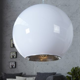 Závesná lampa Big Ball biela