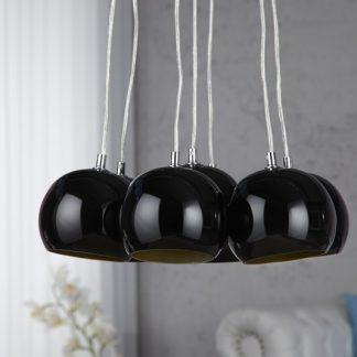 Závesná lampa Black Golden Pearls
