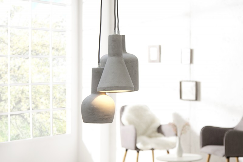 Závesná lampa Cement Multi sivá 3er