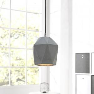 Závesná lampa Cement Prisma sivá 15cm betón