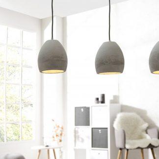 Závesná lampa Cement sivá 3er betón