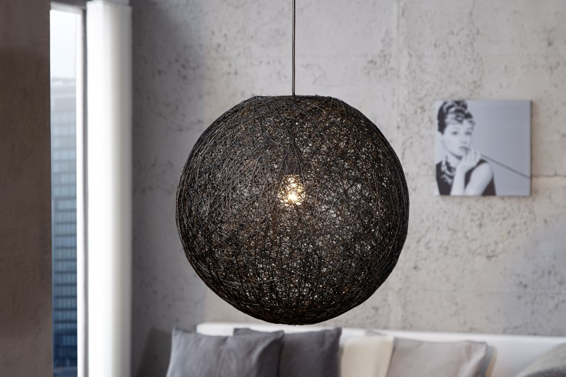 Závesná lampa Cocoon M čierna 35cm