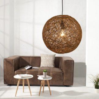 Závesná lampa Cocoon M prírodne hnedý 35cm