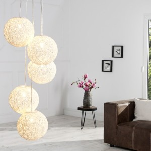 Závesná lampa Cocoon Pearls 5er biela