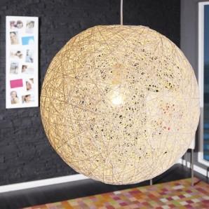 Závesná lampa Cocoon biela 45cm