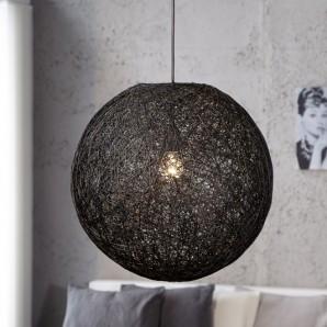 Závesná lampa Cocoon čierna 45cm