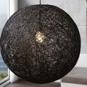 Závesná lampa Cocoon čierna 60cm
