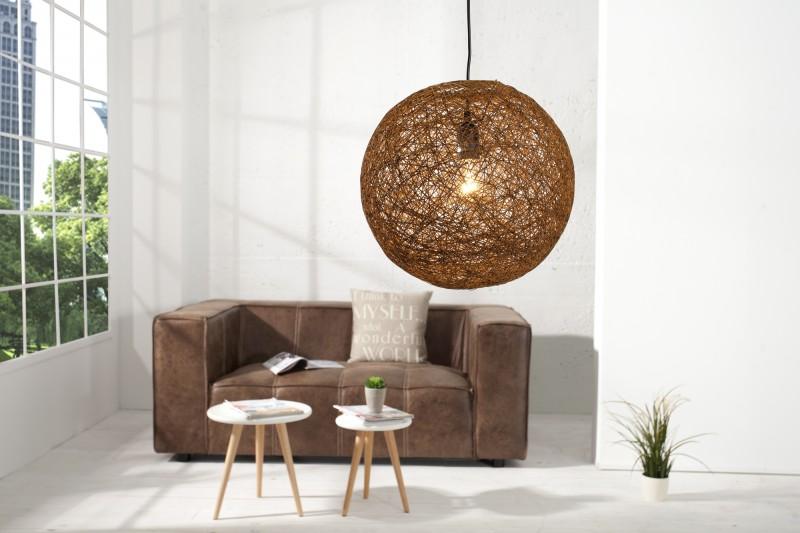 Závesná lampa Cocoon prírodne hnedý 45cm