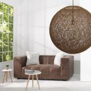 Závesná lampa Cocoon prírodne hnedý 60cm