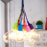 Závesná lampa Colorful Bulbs farebné 12 svetiel
