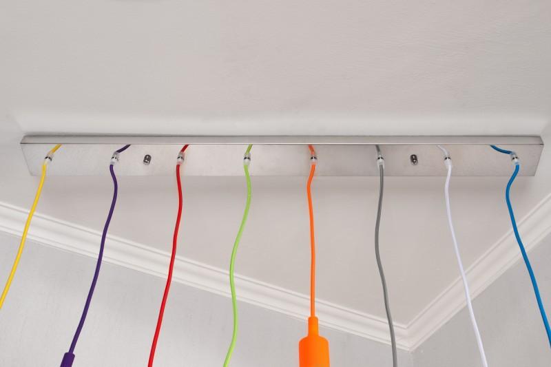 Závesná lampa Colorful Bulbs farebné 8 svetiel
