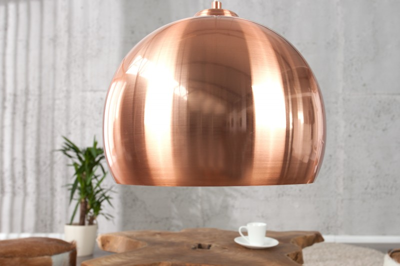 Závesná lampa Copper Ball meď 30cm
