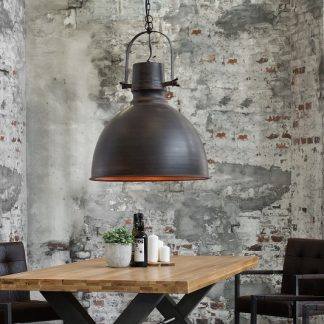 Závesná lampa Craft XL 40cm čierna meď